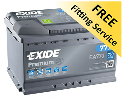 Exide car batteries Oxford