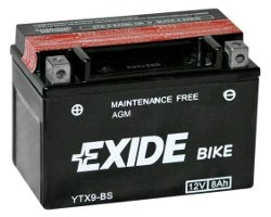 Exide motorcycle battery