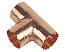Copper pipe t-junction