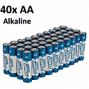 AA Power Master Alkaline Battery 40 Pack