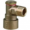 Angled Bayonet Adaptor Gas Fitting ½