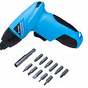 BlueSpot 4.8 Volt Cordless Screwdriver with 12 PC bits