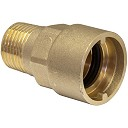 Straight Bayonet Adaptor Gas Fitting ½