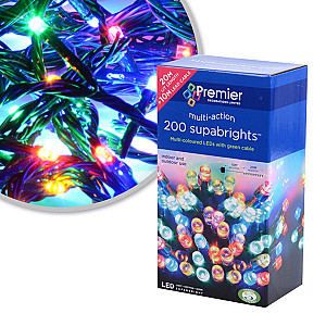 200 LED Supabright Christmas Lights Multi Action