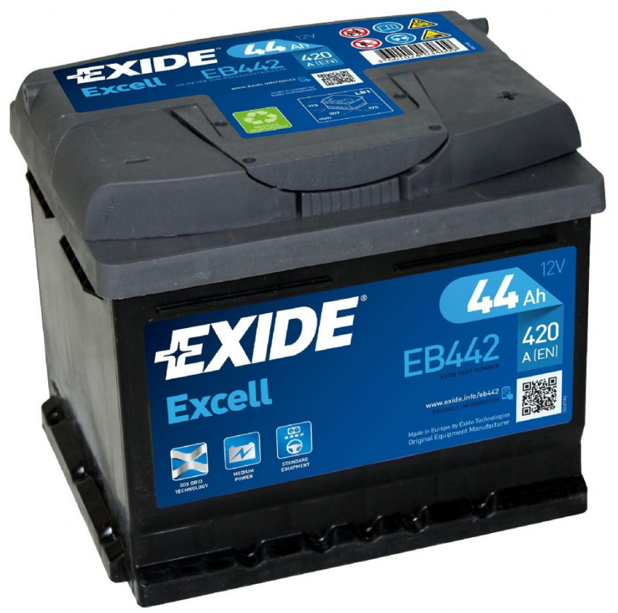 063 Excell Exide Car Battery EB442