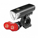 ETC Super Bright Front & Tail Bright Duo Rear 3 Mode LED Bike Light Set