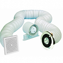 Airvent Shower Extractor Fan + Low Voltage Lamp - Timer Model