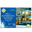 240 LED Snowing Icicles - Premier Christmas Lights LV062392W