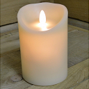 Premier Dancing Flame Candle - Cream