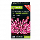 200 Pink Multi Action LED Supabrights Christmas Lights