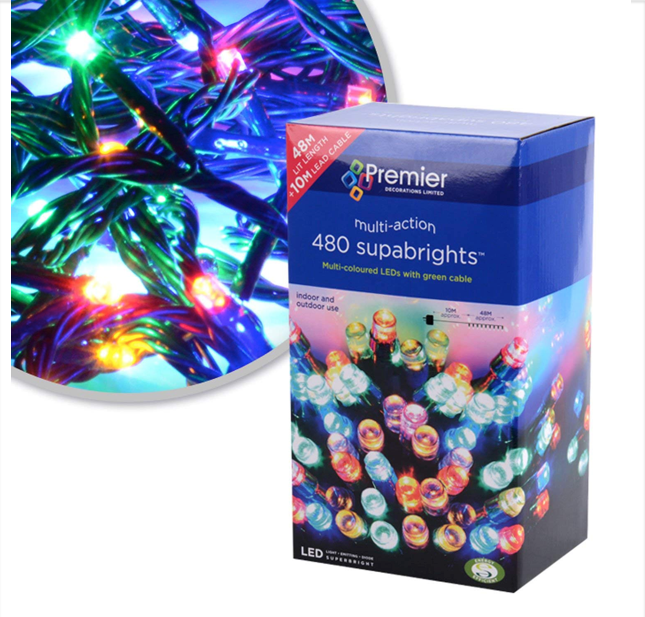 480 LED Supabright Christmas Lights Multi Action