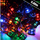 Premier 40 Lantern Christmas Lights - Multi Coloured LEDs