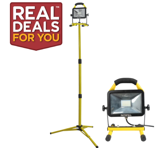 Faithfull 1800 Lumens Tripod Site Light