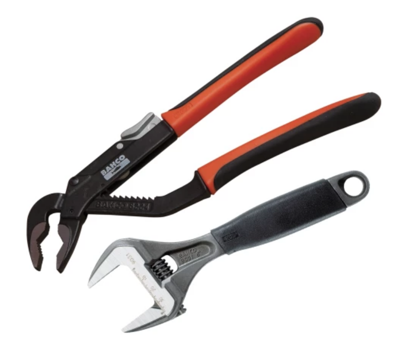 Bahco Adjustable Wrench and Waterpump Plier Handy Pack