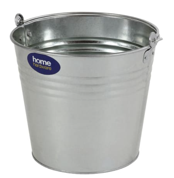 Bucket Galvanised 12L