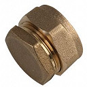 Compression Stop End Fitting 15mm - Brass